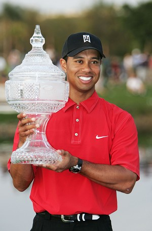 Tiger Woods. Playoff: Tiger Woods and