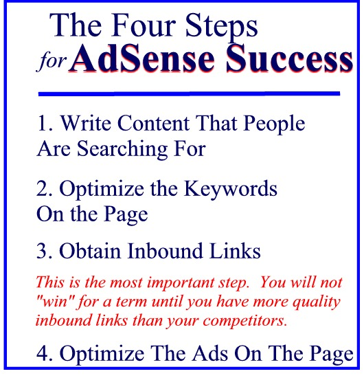 adsense success the four steps