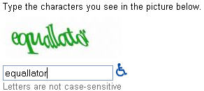 gmail word verification