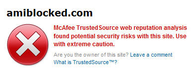 is amiblocked.com safe