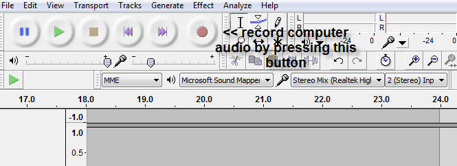 recording audio in Windows 7