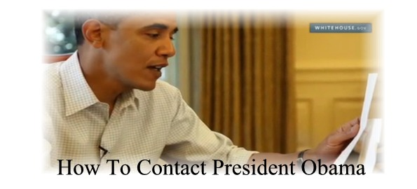How To Contact President Obama